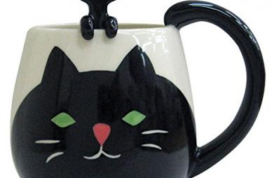 Cat Manmaru Mug + Spoon set